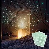 M&A Kids 400 Leuchtsterne selbstklebend in drei Größen – Sternenhimmel für sorglosen Schlaf – Leuchtende Sterne für Kinderzimmer - L