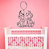 HGFDHG Dalmatiner Wandtattoo Cartoon Hund Haustier Ballon Tür Fenster Vinyl Aufkleber Kinder Schlafzimmer Kinderzimmer Innendekoration Wallpaper Art