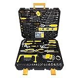 LARS360 268tlg Werkzeugset im koffer Universal Bestückt Werkzeugkiste Haushalts Werkzeugkoffer Universal DIY Handwerkzeuge inkl. Handschraubendreher Schlüssel Zange für Haushalt, Garage, Werkstatt