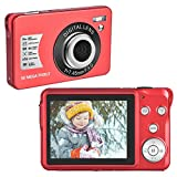 YinFun Digitalkamera Fotoapparat Digitalkamera 30 MP Kompaktkamera 1080P Kamera mit 8-Fach Digitalzoom Mini Vlog Kamera Günstig, Rot