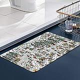FengYe Küche Matte, Fußmatte Badezimmer Dusche Teppiche für Wohnzimmer Wo ist Waldo Ski Wally Martin Handford Kinderbuch, Mikrofaser-Badezimmermatte 60x100 cm