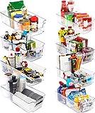 KICHLY Hochwertige vorratsschrank küche organizer - Set von 8 (4 große, 4 kleine Behälter) Stauraum für kühlschrank, Schränke, Regale, spülbecken, kosmetik Büromaterial, werkzeug organizer - B
