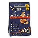 V-POINT Premium Vitties für Hunde unterstützt bei Arthrose Gelenksprobleme Störungen im Bewegungsapparat - glutenfreie Hundeleckerlie ohne Zuckerzusatz (Move ON - Teufelskralle / Ingwer, 250g)