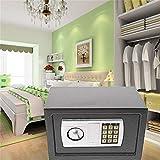 Elektronischer Safe 31x20x20cm LED Doppelbolzenverriegelung Tresor Elektronik Zahlenschloss Tragbar Möbeltresor Tresor Feuerfest Wasserdicht Wandtresor G
