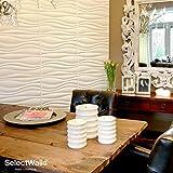 Wandverkleidung aus Holz, Jade| 10 Wandpaneele 3D SelectWalls 50 x 50 cm | 2,5 m² Wandverkleidung zum Bemalen | 3D-Wanddeko mit Innenauskleidung | 3D-Wandp