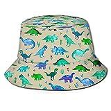 AOOEDM Dinosaurier Braun Zoo Cool Unisex Druck Eimer Hut Muster Fischer Hüte Sommer Wende Packbare Kappe Frauen Männer Mädchen Junge