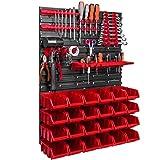 576 x 780 mm Wandregal Werkstatt Garage Lager Hobbyraum Werkzeughalter Stapelboxen Sichtlagerkästen. (ITBNN600x2-U1010-NP6-R444)