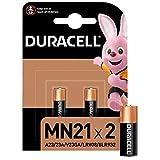 Duracell Specialty Alkaline MN21 Batterie 12V, 2er-Packung (A23 / 23A / V23GA / LRV08 / 8LR932) entwickelt für die Verwendung in Fernbedienungen, Funktürglocken und Sicherheitssy