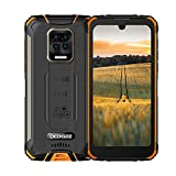 Robustes Handy,DOOGEE S59 Android 10, 10050 mAh Akku, Outdoor Smartphone Ohne Vertrag 2 W Super-Lautsprecher 16 MP 4 Kamera 5,71' Zoll Wasserdichtes Telefon mit 4G Dual SIM NFC/GPS [2021](Orange)