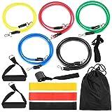 Bepets Widerstandsbänder-Set, 17-teilig, für Krafttraining, Gummischlaufen, Workout, Fintess, Übungsbänder, Türanker, Knöchelriemen, Widerstandsb