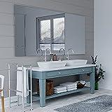 ARTTOR Badezimmer Spiegel ohne Rahmen. Bad Dekoration - Spiegel Wand in vielen Größen. Verschiedene Dekorative Muster und Alle Größen. Hausmöbel - M1ST-01-60x100