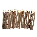 STOBOK 20Pcs Zweig Bleistifte Natürliche Holz Bleistifte Zweig Bleistifte Baum Bleistifte Zeichnung Bleistifte fü