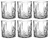 KADAX Trinkgläser, 6er Set, transparente Wassergläser mit verstärktem Boden, dickwandige Saftgläser, geriffelte Gläser, Trinkglas (Niedrig, 320ml)