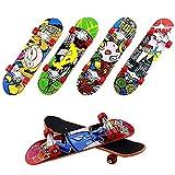 Groust 6 Mini Finger Skateboards, Kinder Fingerboard Spielzeug, Legierung Finger Skateboard - Kindergeburtstag Party Mitgebsel, Mitbringsel, Gastgeschenke, Pinata (zufällige Farbe)