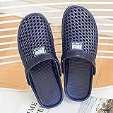 SUNXC Flache Hausschuhe Badesandalen, Atmungsaktive Strandschuhe im Freien-Tiefblauer Mann_36,Pantoffeln Gartenschuhe Home Slippers