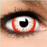 Farbige Maxi Sclera Kontaktlinsen Killer Clown - inkl. Behälter - Top Linsenfinder Markenqualität, 1Paar (2 Stück)
