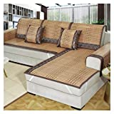 ALGWXQ Sommer Bambusmatte Wasserdicht Doppelseitiges Design Kratzfest Sofa Sommer Matte Benutzt für Sofa Wohnzimmer, Büro, Verschiedene Spezifikationen (Color : C, Size : 70X180cm)