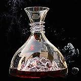 Zxqiang Iceberg Wine Decanter Belüfter,1800ml Kristallglas Weinflasche Spirituosenspender,Mundgeblasene Bleifreie Einzigartige Weinkaraffe Und Karaffen,weingeschenke Für Weinliebhaber,B