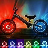 Herefun LED Fahrrad Rad Lichter, LED Fahrrad Speichenlicht, Speichenlichter USB Wiederaufladbare, Wasserdicht Sicherheitsreifen Lichter für Kinder (LED)