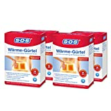 SOS Wärme-Gürtel, zur Schmerzlinderung bei Rückenschmerzen, Gürtel mit Wärmepads bei verkrampften Muskeln und Verspannungen (4 x Wärmegurt, je 4 Wärme Pads)