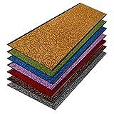 Design-Sauberlaufmatte Brasil | Schmutzfangmatte in vielen Farben und Größen | Türvorleger | Strapazierfähig & pflegeleicht (90 x 400 cm, Violett)