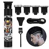 BESTBOMG T-Blade Haarschneidemaschine, Haarschneider USB-Ladegerät- Herren Bartschneider Haartrimmer Präzisionstrimmer Männer 1200mAh