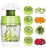 Opard Spiralschneider Hand 5 in 1 Gemüsespaghetti Gemüse Spiralschneider, Gemüseschneider, Gemüsehobel für Karotte, Gurke, Kartoffel, Kürbis, Zucchini, Zwiebel