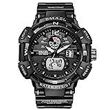 Digital Armbanduhr, shifenmei Digitale Uhren Herren mit Leuchtend 12/24H Datum/Woche Alarm 50M Wasserdicht Digitaluhr für Männer Jungen (Schwarz)