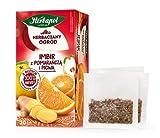 Ingwer mit Orange und Quitte, Obst- und Kräutertee mit Zitrusgeschmack, HERBAPOL, 20 SACHETS X 2,5 g, Wärmeinfusion