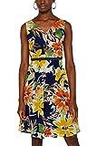 ESPRIT Collection Damen 059EO1E019 Kleid, Blau (Navy 400), (Herstellergröße: 36)