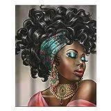 American African Girl 2012202 Wandbild, Kunstdruck, Wanddekoration, Holz, 25 x 20 cm