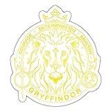 Spreadshirt Harry Potter Gryffindor Wappen Löwe Sticker, One Size, Mattweiß