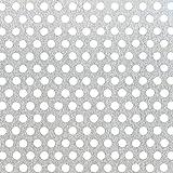 GAH-Alberts 464240 Lochblech, runde Lochung - Aluminium, natur, 250 x 500 x 0,8