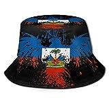 Haiti Fischerhut mit Flagge, Adler, UV-Schutz, leicht, atmungsaktiv, breite Krempe, verstaubare Sonnenkappen für Damen und Herren, Outdoor, Angeln, Strand, Wandern, R