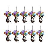 Niedliche Hundes Auto Hängende Verzierung Auto Rückspiegel Verzierung Anhänger Sonnenfänger Auto hängende Katze Hund Verzierung mit Ballons mit buntem hängenden Verzierungsgeschenk der Aerosphäre