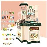 YHX Kinderküchen-Spielzeugset, Simulationsküchengeschirr für Mädchen und Jungen, Kochen und Kochen von Puzzlespielwerkzeugen(Color:A)