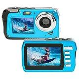 Unterwasserkamera 2.7K Full HD 48MP wasserdichte Kamera Dual Screens 3.0 in Unterwasserkamera 10 ft Unterwasser Camcorder Selfie Kamera