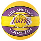 Spalding NBA Team L.A. Lakers Ball Basketball (7, Yellow)