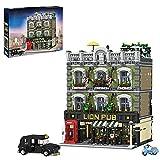 SESAY Haus Bausteine Bausatz, 5910 Teile 4-Etagen Modular Lion Pub Architektur Modell, Kompatibel mit Lego