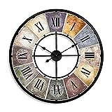 Große Metall Vintage XXL Wanduhr für die Wohnzimmer Küche Wand Wanduhren Deko Retro Uhr römische Ziffern gross 80 cm Durchmesser