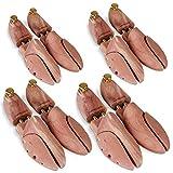 Jago® Schuhspanner - 1, 2 oder 4 Paar, aus Zedernholz und Aluminium, mit Spiralfeder, 37 38 39 40 41 42 43 44 45 46 47 48 - Schuhstrecker, Schuhdehner, Schuhweiter, Schuhform