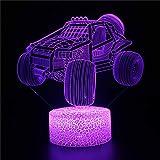 3D-Illusions-Nachtlicht, LED-Schreibtischlampe, Touch-Steuerung, Geländefahrzeug, N 16 Farben, verstellbar, Fernbedienung, dimmbar, Touch-Lampe, 2, 3, 4, 5, 6, 7, 8 Jahre, Geschenk für Jungen