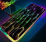 Mauspads Rainbow Pattern RGB Gaming Mauspad XL Gamer Computer Mauspad LED Hintergrundbeleuchtung Große Schreibtischunterlage für PC 800x300x4mm