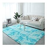 AOACD Fluffy Gebiet Teppiche Bequem und weich Anti-Rutsch zum Wohnzimmer und Schlafzimmer Big Fussboden Teppich,80 * 200cm