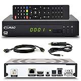 Comag HD25 HD Sat Receiver mit USB Aufnahmefunktion PVR + Mediaplayer mit HDMI-Kabel/KFZ-Kabel, Astra vorinstalliert Digital Satelliten Receiver DVB-S2, HDMI, Full HD, HDTV