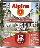 Alpina Wetterschutz-Farbe deckend Steingrau 0,75 l