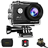Apexcam 4K Action cam 20MP WiFi Sports Kamera Ultra HD Unterwasserkamera 40m 170 ° Weitwinkel 2.4G Fernbedienung Zeitraffer 2x1050mAh Akkus 2.0-inch LCD Bildschirm und andere