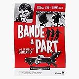 Generic New Bande Heist 脌 Action Drama French 1964 Film Paris Wave Part Home Decor Wandkunst drucken Poster !