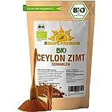 CEYLON ZIMT BIO (500g)   Zimt Pulver BIO arm an Cumarin 100% echtes Zimt Ceylon   Premium Qualität abgefüllt und kontrolliert in Deutschland (DE-ÖKO-007)   Verpackung ohne Aluminium Dean's Premium