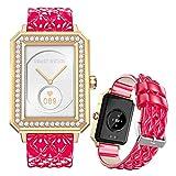 FMSBSC Smartwatch für Damen 1.65 Zoll HD Farbdisplay Fitnessuhr Smart Watch mit Frauengesundheit Bluetooth Telefonie, Fitness Tracker mit Pulsmesser Blutdruckmessung Schlaf SpO2 Monitor,Pink a